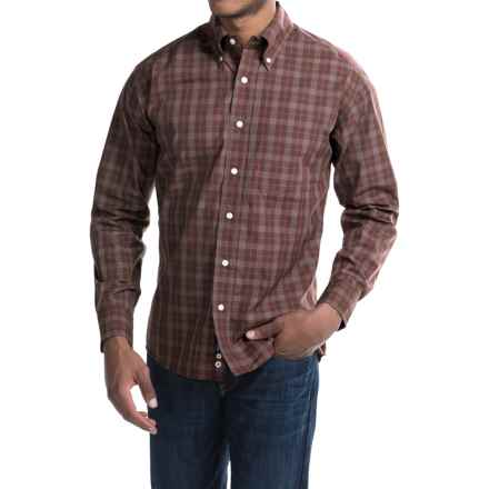 Bills Khakis Standard Issue Plaid Shirt - Long Sleeve (For Men) in Red - Closeouts
