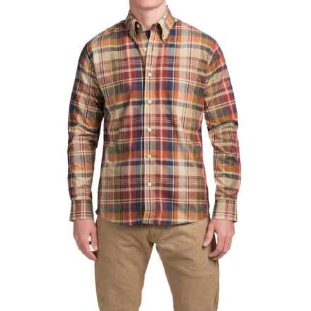 Bills Khakis Standard Issue Plaid Shirt - Long Sleeve (For Men) in Wine - Closeouts