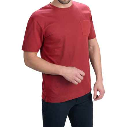 Bills Khakis Standard Issue Solid T-Shirt - Short Sleeve (For Men) in Red - Closeouts