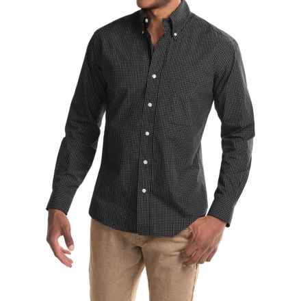 Bills Khakis Standard Issue Windowpane Shirt - Long Sleeve (For Men) in Black - Closeouts