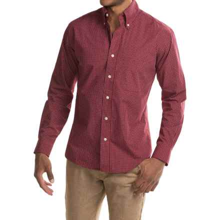 Bills Khakis Standard Issue Windowpane Shirt - Long Sleeve (For Men) in Dark Red - Closeouts
