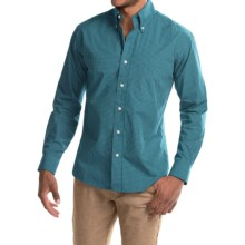 Bills Khakis Standard Issue Windowpane Shirt - Long Sleeve (For Men) in Teal - Closeouts