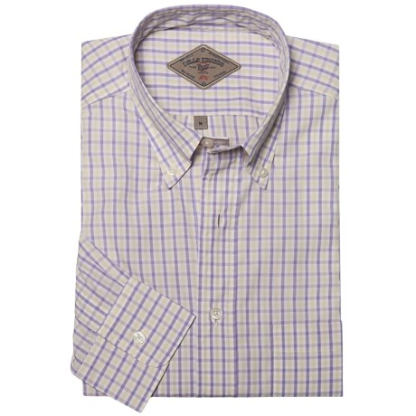 Bills Khakis Summer Check Shirt - Long Sleeve (For Men) in Plum