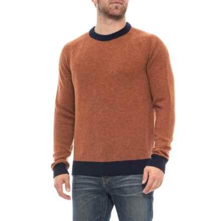 Bills Khakis Supersoft Shetland Crew Neck Sweater - Wool (For Men) in Pumpkin Heather - Overstock