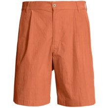 Bills Khakis Surf Cloth Shorts - Pleated (For Men) in Tangerine - Overstock