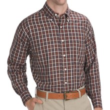 Bills Khakis Tattersall Shirt - Long Sleeve (For Men) in Brown/White - Closeouts