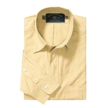 Bills Khakis Weathered Poplin Shirt - Long Sleeve (For Men) in Yellow - Closeouts