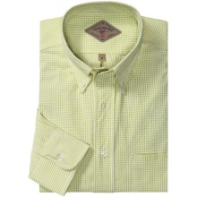 Bills Khakis Woven Check Shirt - Button Down, Long Sleeve (For Men) in Green - Overstock