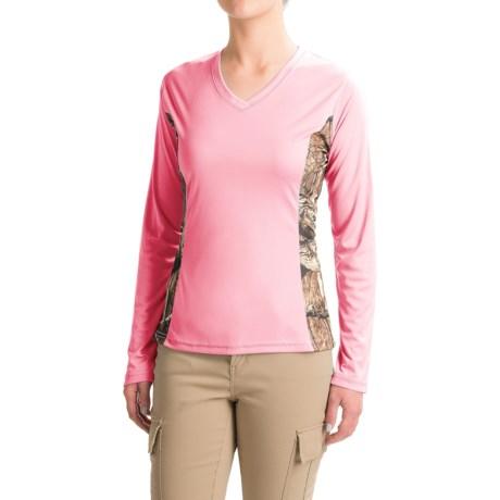 Bimini Bay Camo T-Shirt - UPF 30, V-Neck, Long Sleeve (For Women)