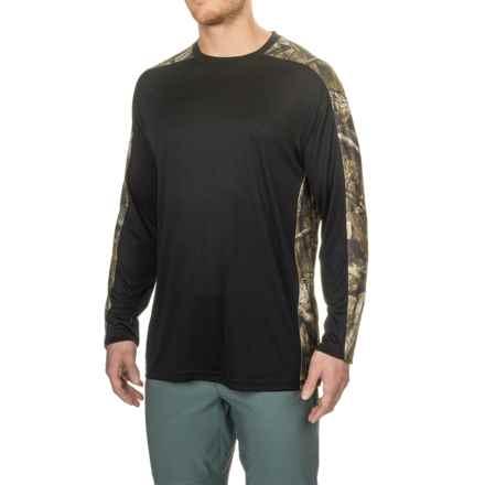 Bimini Bay Pieced Camo T-Shirt - UPF 30, Long Sleeve (For Men) in Black - Closeouts