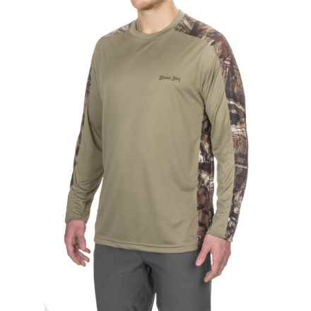 Bimini Bay Pieced Camo T-Shirt - UPF 30, Long Sleeve (For Men) in Olive - Closeouts