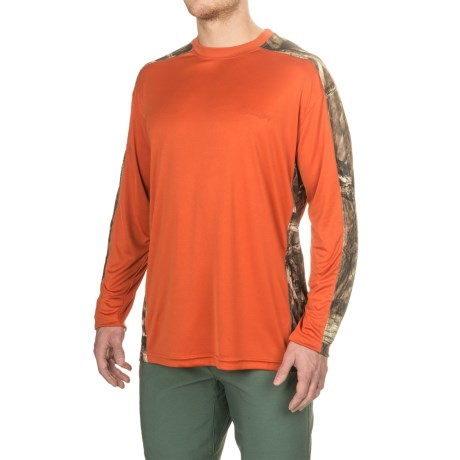 Bimini Bay Pieced Camo T-Shirt - UPF 30, Long Sleeve (For Men) in Rust/Breakup Infinity