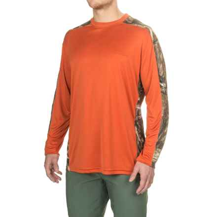Bimini Bay Pieced Camo T-Shirt - UPF 30, Long Sleeve (For Men) in Rust - Closeouts
