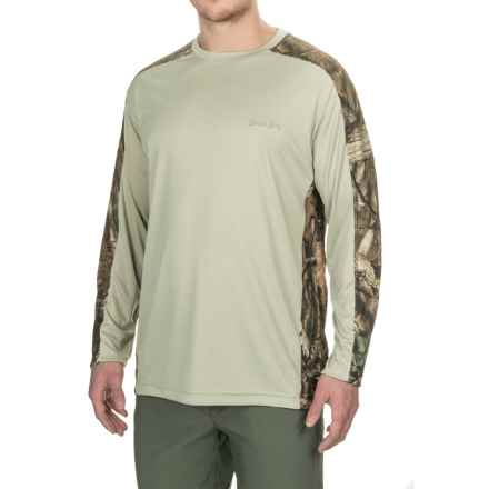 Bimini Bay Pieced Camo T-Shirt - UPF 30, Long Sleeve (For Men) in Stone/Breakup Infinity - Closeouts