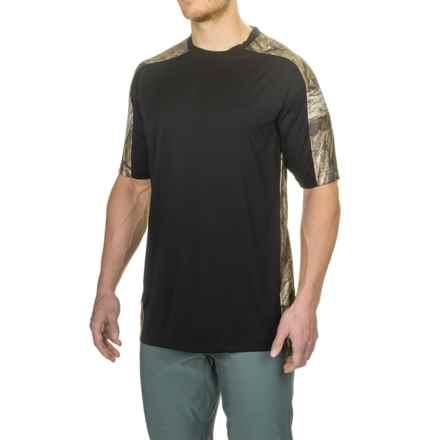 Bimini Bay Pieced Camo T-Shirt - UPF 30, Short Sleeve (For Men) in Black - Closeouts
