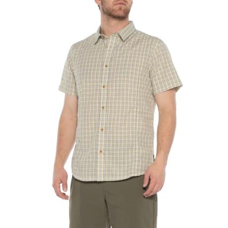 Image of Bio Green Lukas Plaid Shirt - Slim Fit, Short Sleeve (For Men)