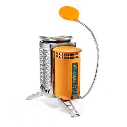 BioLite CampStove with FlexLight in Orange - Closeouts