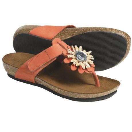 BioNatura Bari Sandals - Nubuck (For Women) in Orange