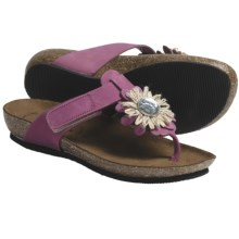Bionatura Bari Thong Sandals - Nubuck (For Women) in Purple - Closeouts
