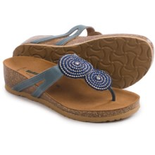 BioNatura Carina Sandals - Leather (For Women) in Navy - Closeouts