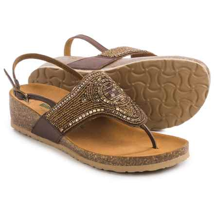 BioNatura Crystal Sling-Back Sandals - Leather (For Women) in Bronze - Closeouts