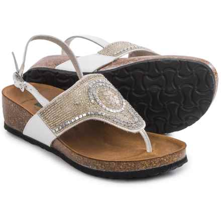 BioNatura Crystal Slingback Sandals - Leather (For Women) in Ice - Closeouts