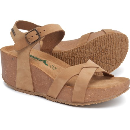 9113ff868abe BioNatura Made in Italy X-Leather Wedge Sandals (For Women) in Tan
