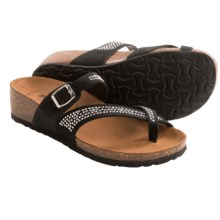 BioNatura Parma Sandals - Nubuck, Wedge Heel (For Women) in Black - Closeouts