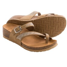 BioNatura Parma Sandals - Nubuck, Wedge Heel (For Women) in Taupe - Closeouts