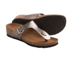 BioNatura Pescara Sandals - Leather (For Women) in Pewter - Closeouts
