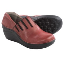 Bionica Coast Wedge Clogs - Leather (For Women) in Red - Closeouts