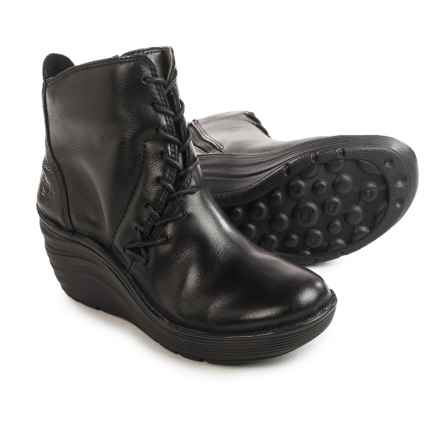 Bionica Corset Boots - Leather (For Women) in Black - Closeouts