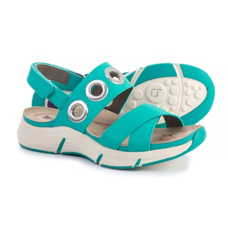 Bionica Olney Leather Sandals (For Women) in Turquoise