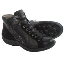 Bionica Orbit High-Top Sneakers - Leather (For Women) in Black/Anthracite - Closeouts