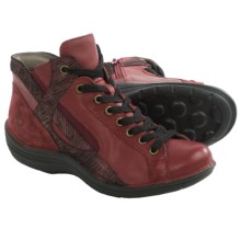 Bionica Orbit High-Top Sneakers - Leather (For Women) in Fire Red/Claret - Closeouts