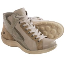 Bionica Orbit High-Top Sneakers - Leather (For Women) in Taupe/Parisian Grey - Closeouts