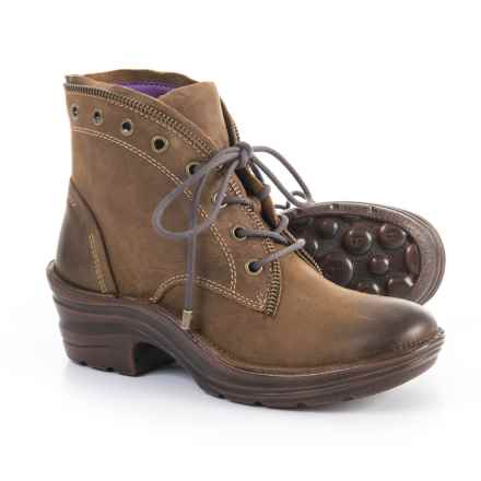 Bionica Rangely Leather Booties (For Women) in Brown - Closeouts