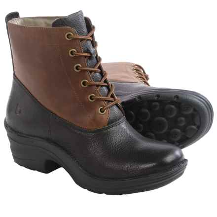 Bionica Roker Leather Boots - Insulated (For Women) in Black Barista - Closeouts
