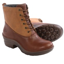 Bionica Roker Leather Boots - Insulated (For Women) in Sturdy Brown/Warm Tan - Closeouts