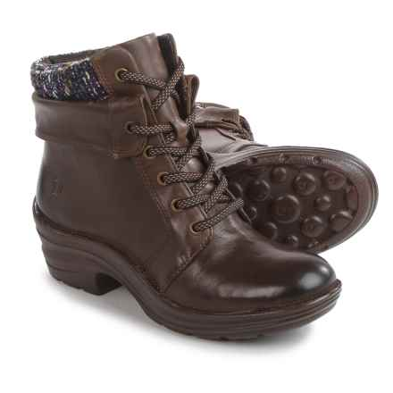Bionica Romulus Leather Boots (For Women) in Sturdy Brown/Purple - Closeouts
