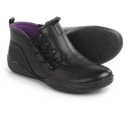 Bionica Santiago Leather Ankle Boots - Side Zip (For Women) in Black - Closeouts