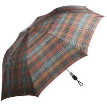 Birdiepal Classic Umbrella in Brown/Red Plaid - Closeouts