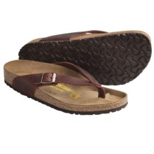 Birkenstock Adria Sandals - Leather, Flip-Flops (For Women) in Henna Oiled Leather - Closeouts