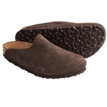 Birkenstock Amsterdam Clogs - Leather (For Women) in Java Nubuck - Closeouts
