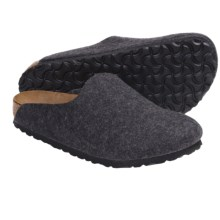 Birkenstock Amsterdam Clogs - Wool (For Men and Women) in Anthracite Wool - Closeouts