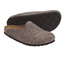 Birkenstock Amsterdam Clogs - Wool (For Men and Women) in Cocoa Wool - Closeouts