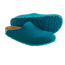 Birkenstock Amsterdam Clogs - Wool (For Women) in Petrol - Closeouts