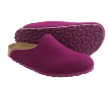 Birkenstock Amsterdam Clogs - Wool (For Women) in Purple - Closeouts