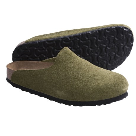 Birkenstock Amsterdam Soft Footbed Clogs - Suede (For Women) in Turquoise