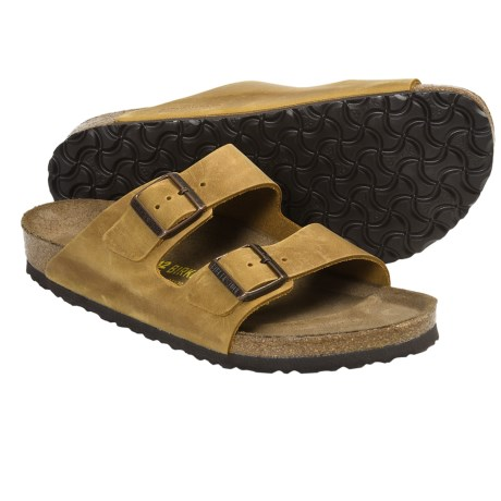 Birkenstock Arizona Sandals - Leather (For Men and Women) in Turquoise Oiled Leather